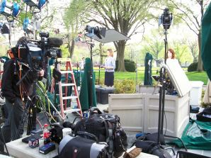 Field producing from the White House