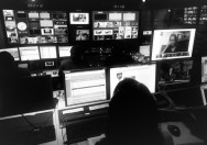 In control room during live broadcast of The Stream on Al Jazeera America network.