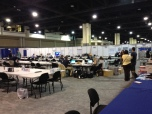 Media work area at the 2012 Democratic Convention