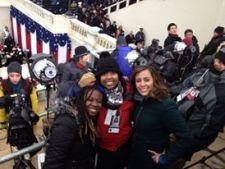 Field producing Hearst Television coverage of President Obama's second inauguration.