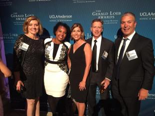 Attending annual Loeb Awards dinner where Full Measure was among the finalist.